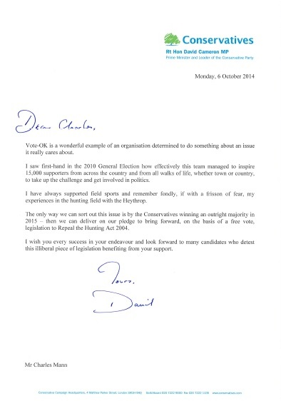 Vote OK letter