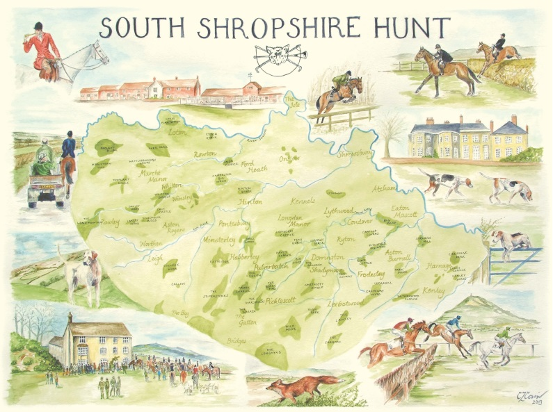 South Shropshire Hunt Country map